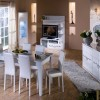 akrilik beyaz yemek odası