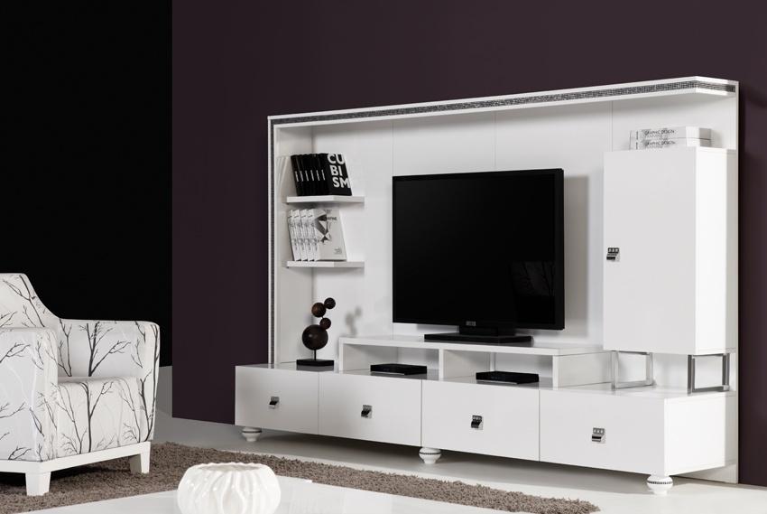 beyaz cekmeceli tv unitesi