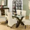 beyaz deri mutfak sandalyesi