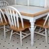 beyaz mutfak masasi ve sandalyesi