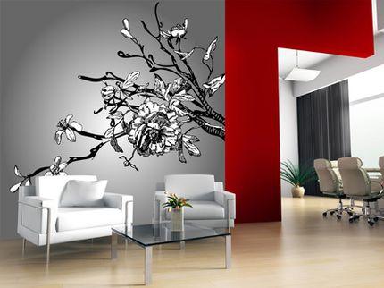 cicekli duvar sticker