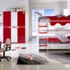 kırmızı beyaz genç odası