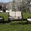 kahverengi bahce koltuklari