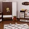 kahverengi beyaz bebek odası
