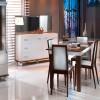 kahverengi yemek odası takımı
