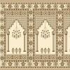 krem cami halı modeli
