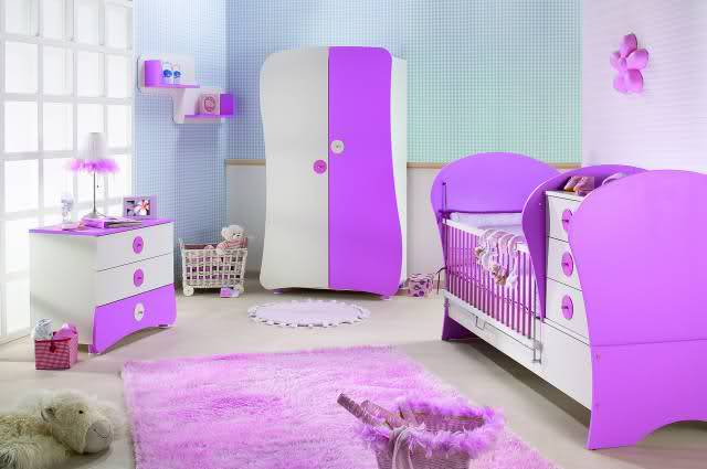 lila bebek odası takımı