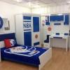 mavi beyaz genç odası takımı