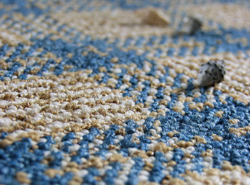 mavi krem halı fleks