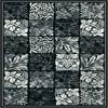 siyah çiçekli halı