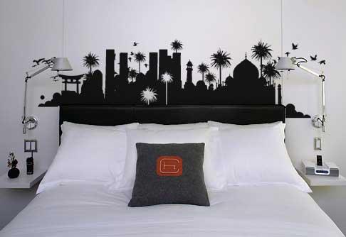 yatak odasi icin sticker