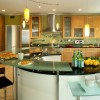 yuvarlak mutfak tezgahi