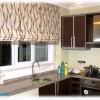 Katlamalı en yeni mutfak perde örnekleri