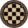 geometrik desenli yuvarlak hali