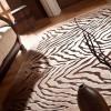 kabartmalı zebra halı tasarımları