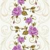 mor çiçekli halı