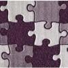 mor renkli puzzle halı tasarımları