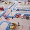trafik desenli halı