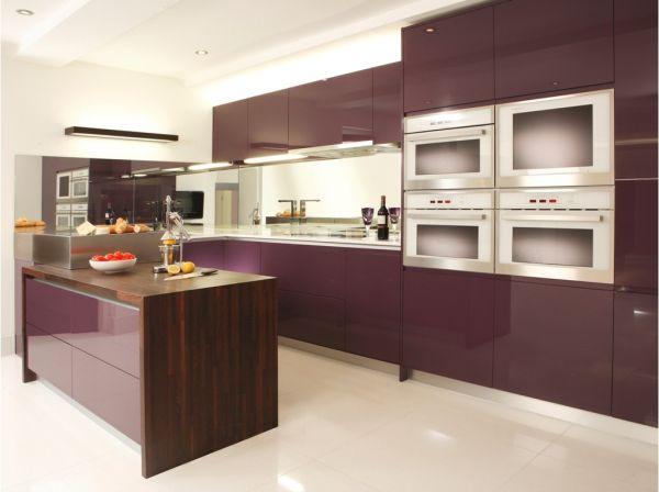 akrilik mutfak dolapları ile L tipi mutfaklar