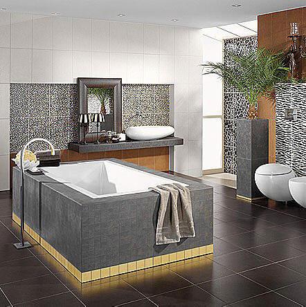 banyo dekorunda kutahya seramik