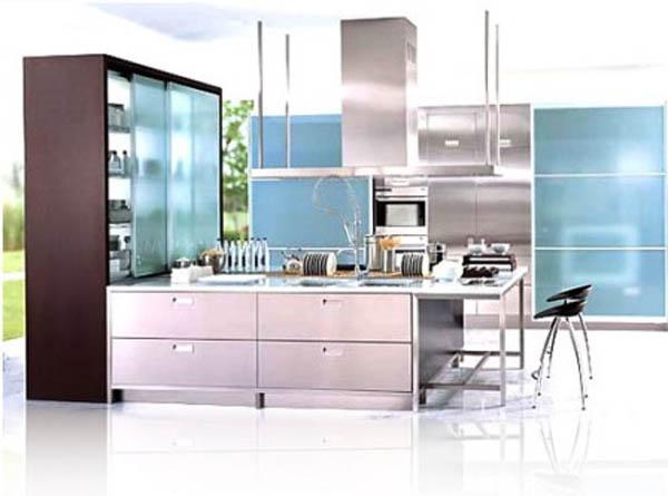 modern L mutfak dekorasyonu