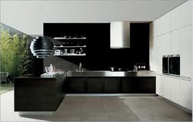 siyah L mutfak modelleri