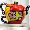 Elma Şeklinde Porselen Çaydanlık Modeli