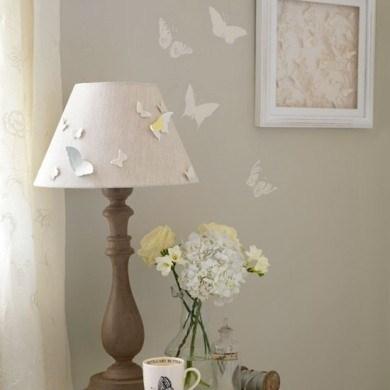 Kelebek Tasarımlı Yatak Odası Abajur Örneği
