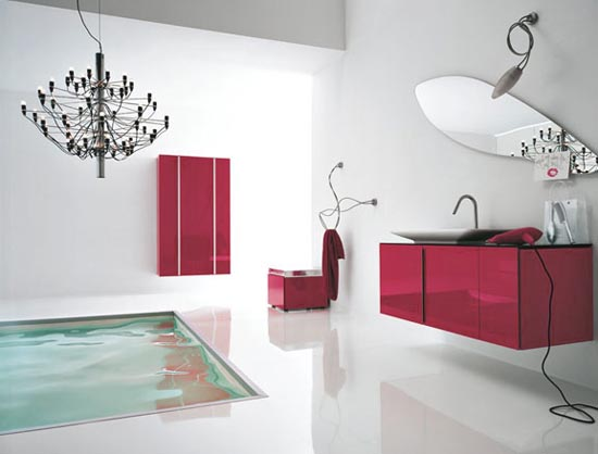 Havuzlu Banyonuzda kırmızın yeri