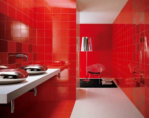 Kırmızı Banyo Dekoronumuz