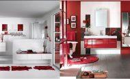 Size Özel Kırmızı Banyo Dekorasyonlarımız