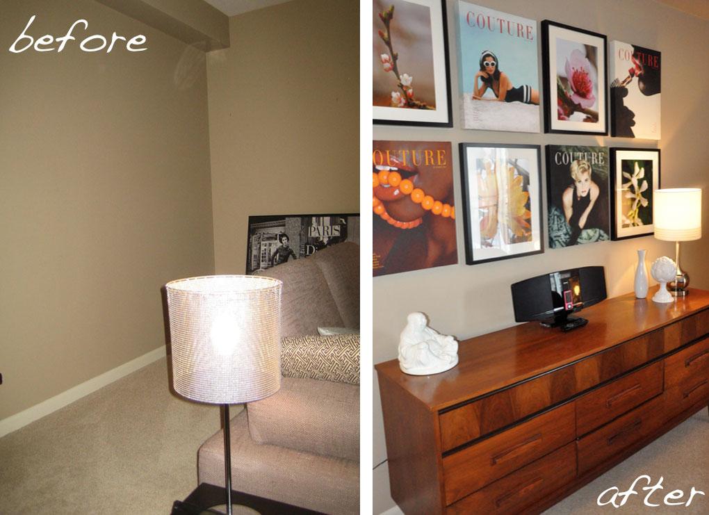 Öncesi ve Sonrası  Coxford Condo Oturma Odası 4