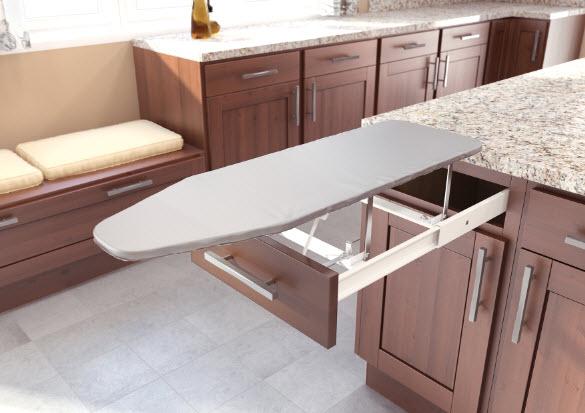 Mutfak çekmece ütü masası modeli açık hali