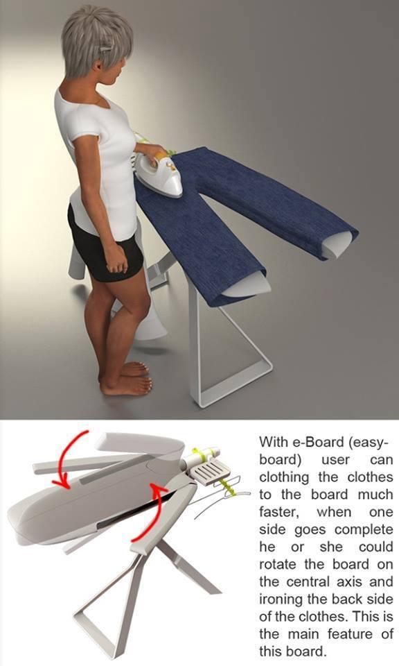 Sıra dışı ütü masası tasarımları