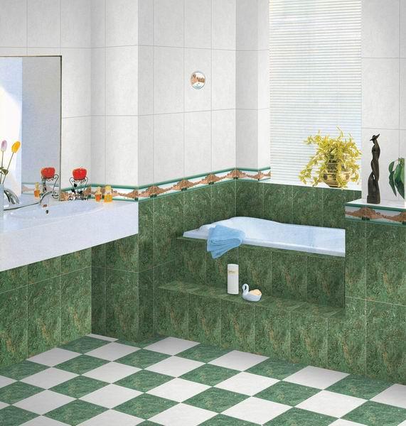 Kütahya Seramik Banyo Duvar Dekorasyonu