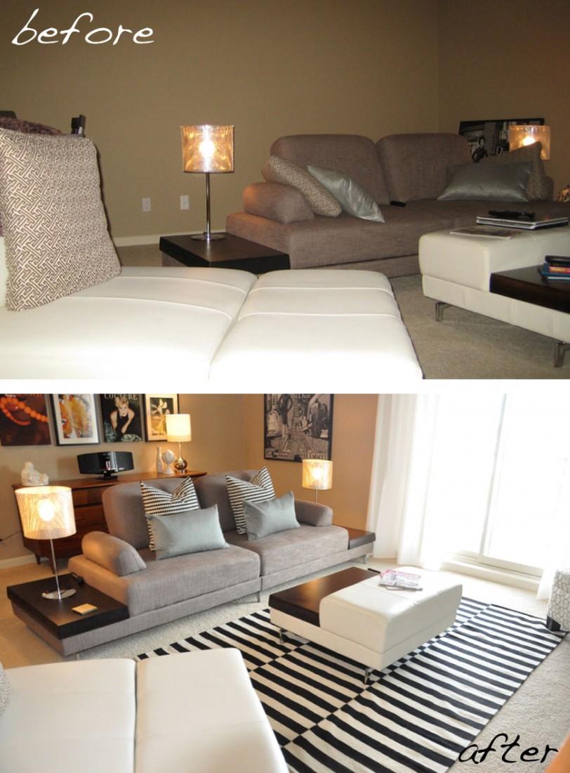 Öncesi ve Sonrası Coxford Condo Oturma Odası 3