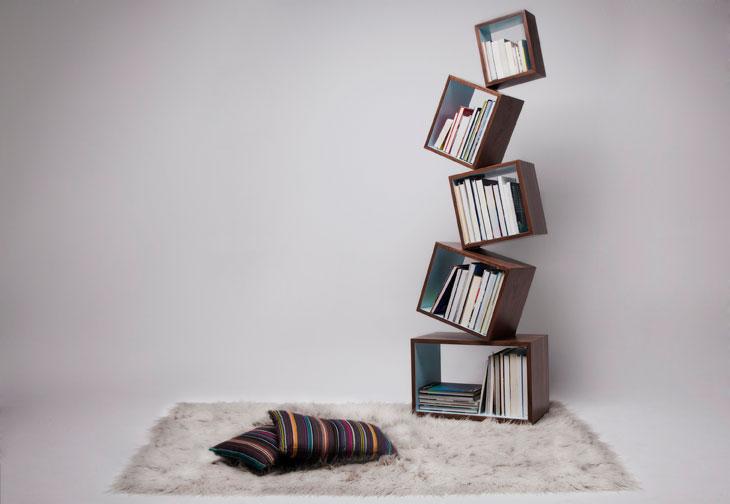 Malagana Dizayn'ın Tasarladığı Equilibrium Kitaplık Yer Çekimine Meydan Okuyor!